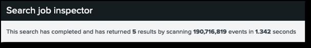 Figure3- Search job inspector fortstatscommand search.