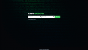 Figure 1 - Default Splunk login page