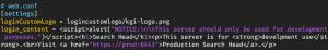 Figure 8 – Example web.conf to add script