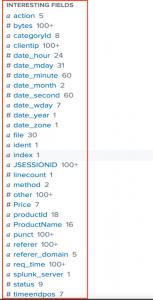 Figure 3 - Interesting Fields list