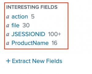 Figure 7 - Splunk fields command results
