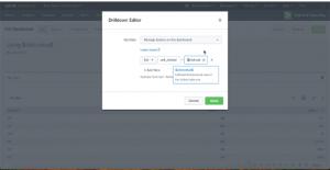 "a ""Drilldown Editor"" popup window"