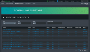 Figure 6 - Snapshot of Scheduling Assistant dashboard