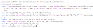 Figure 2 - Splunk with ALL search formatting settings