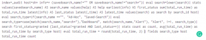 Figure 2 - Splunk without search formatting settings
